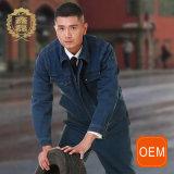 OEM конструирует ваши собственные прозодежды безопасности голубого Jean для людей, изготовленный на заказ прозодежд Китая Workwear