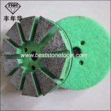 Bloque de pulido del metal del diamante con el Velcro para el concreto