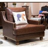 Sofà americano del cuoio genuino di disegno moderno per la mobilia As849 del salone