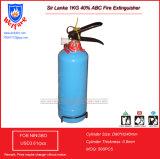 スリランカ1kgの乾燥した化学薬品の粉の消火器