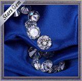 Couleur blanche 6.5mm de forme ronde 1 diamant brillant de Moissanite de coupure de carat