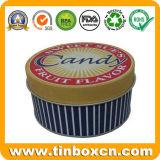 선물 포장 상자, 금속 양철 깡통을%s 둥근 주석 상자