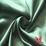 Tissu vert de satin de polyester pour la garniture, robe
