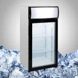 Glastür-kleine Tabletop Gefriermaschine für Nahrung und Eiscreme