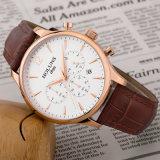 Orologio impermeabile genuino materiale Relogio del quarzo del cronografo della data della cinghia di cuoio dello zaffiro di lusso degli uomini maschile