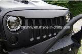 Gril fâché d'avant de noir de gril de véhicule de type d'oiseau de première vente pour le Wrangler de jeep
