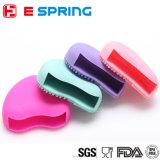 Ovo cosmético da escova do silicone do limpador da escova da forma do coração da esteira da limpeza de escova do silicone da composição