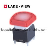 De verlichte die Schakelaar van de Drukknop voor Audio VideoTelecommunicatie-uitrusting wordt gebruikt