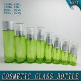 Stampa senz'aria dello schermo della bottiglia della pompa di vetro verde