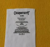 Traspaso térmico caliente de la escritura de la etiqueta de la escritura de la etiqueta de cuidado de la colada de la Etiqueta-Menos de la ropa de la venta