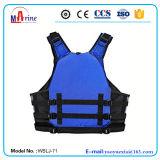 Голубой спасательный жилет &#160 спорта затвора изготовления цвета;