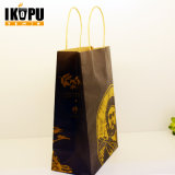 Bolsa de papel caliente de Kraft de la venta con la maneta y la alta calidad