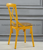 Cadeira de jantar traseira da cruz amarela barata