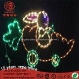 Luz da corda do motivo do coelho mutável impermeável quente do diodo emissor de luz IP65 da venda 2D para a decoração de Easter
