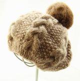 Шлем Brett шерстей способа связанный Customed с шариком шерсти кролика