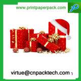 De maat Doos van de Gift van Kerstmis Rode Verpakkende of de Doos van het Karton van de Gift