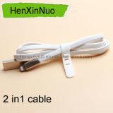 Напечатайте кабель на машинке USB с одной головкой для iPhone и Android