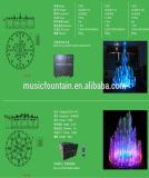 Bassin en résine Musique colorée dansant fontaine d'eau de plein air en plein air