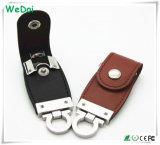 Movimentação da pena do USB do couro do melhor vendedor com logotipo personalizado (WY-L09)