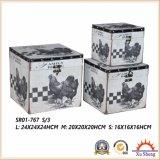 Il contenitore di regalo del contenitore di monili della valigia della stampa del reticolo della latteria dell'azienda agricola per memoria e la decorazione