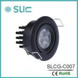 3W LED ahuecado abajo de la luz de la cabina para los muebles (SLCG-C007)