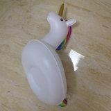 Sostenedor inflable de la bebida del unicornio del PVC que flota para los pobres de la natación