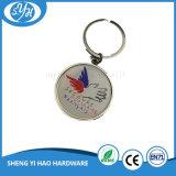 Stampa a forma di rotonda con il metallo a resina epossidica Keychain del rivestimento
