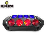 DJのための8X10W RGBW 4in1 LEDのビームくもの移動ヘッド