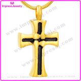 Il regalo commemorativo cristiano della collana Pendant trasversale dell'urna di modo incenerisce il supporto del Keepsake (IJD8024)