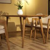 A tabela de jantar longa moderna a mais atrasada da madeira contínua para a mobília Home (D12)