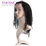 Parrucca brasiliana dei capelli di Remy dell'arricciatura malese di modo, parrucche del merletto della parte anteriore dei capelli umani di Alixpress Yvonne, parrucca delle donne del 1b di colore