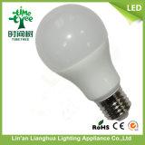 bulbo de lámpara de 7W E27 6500k LED con aluminio más PBT