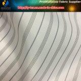 Tela teñida hilado de la raya de la tela cruzada, guarnición blanca de la funda de la venta al por mayor (S106.109)