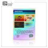 クレジットカードのためのペットレーザープリンターによる印刷シート