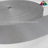 tessitura di nylon del tessuto diagonale di Grey d'argento di 5cm dell'alta qualità