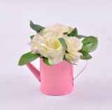 De kleurrijke Met de hand gemaakte Wilde Bloemen in het Water van het Tin kunnen