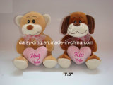 Plush Standing Valentine Tiger with Heart