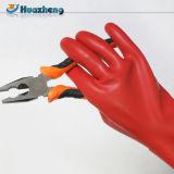 Перчатки безопасности латекса 1kv ранга 0 электрические изолируя
