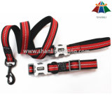 Polyester Van uitstekende kwaliteit van de Stijl van de Sport van heet-verkoop de Zwarte & Rode 20mm/Nylon Leiband & Regelbare Kraag met Weerspiegelende Strook