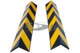 Schwarzer u. gelber quadratischer Gummirahmen-Eckschutz