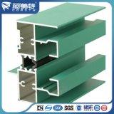 Profil d'aluminium à isolation thermique en couleur verte pour fenêtre en aluminium