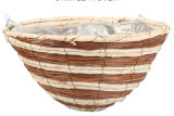 Striped сплетенный садовничая бак плантатора