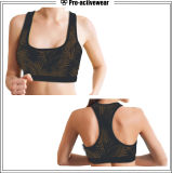 Reggiseno variopinto di sport della maglia delle donne di compressione sexy degli abiti sportivi