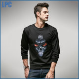 Chemise grise d'hommes de logo d'impression de mode par l'usine de Guangzhou Garment