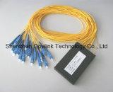 Divisore del PLC della scatola di plastica di telecomunicazione 1X16 di Gpon per Pon/FTTH/CATV