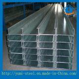 Purlin de aço galvanizado de C para edifícios pré-fabricados da construção de aço