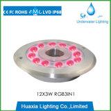 Lumière sous-marine de syndicat de prix ferme de fontaine d'acier inoxydable d'IP68 316ss