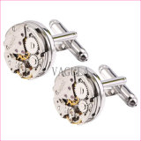 Nova chegada Steampunk Gear Watch Cuff Links Movimento Cufflinks 126