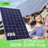 Fornitori del principale 5 di Qcells Cina, comitato solare 250W-275W per la casa