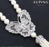 00193新しい到着の贅沢な方法ジルコンの蝶ビードはネックレスを真珠で飾る